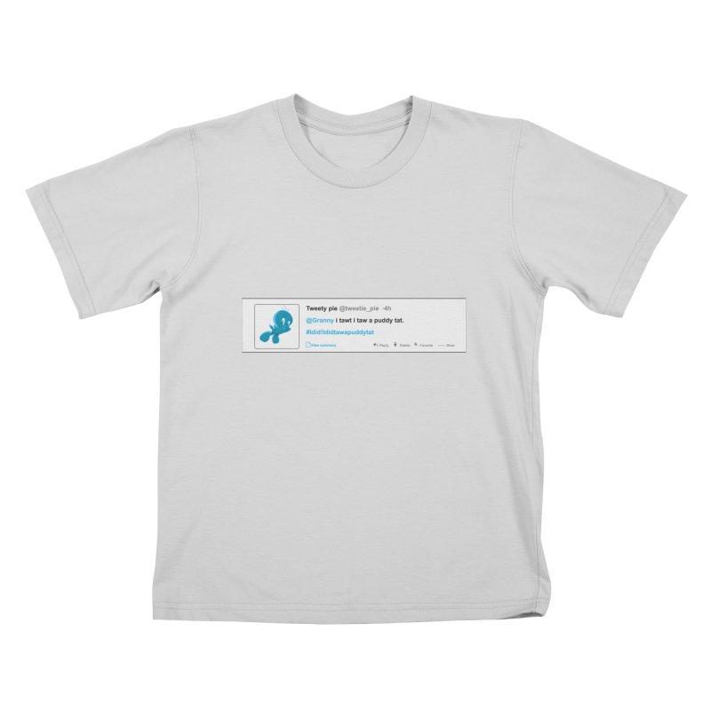 Twitter Pie Kids T-Shirt by VarieTeez Designs