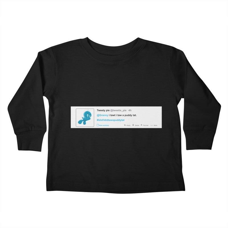 Twitter Pie Kids Toddler Longsleeve T-Shirt by VarieTeez Designs