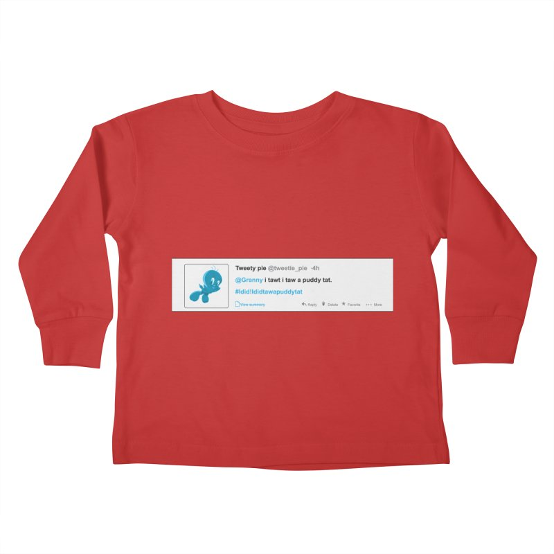 Twitter Pie Kids Toddler Longsleeve T-Shirt by VarieTeez Designs