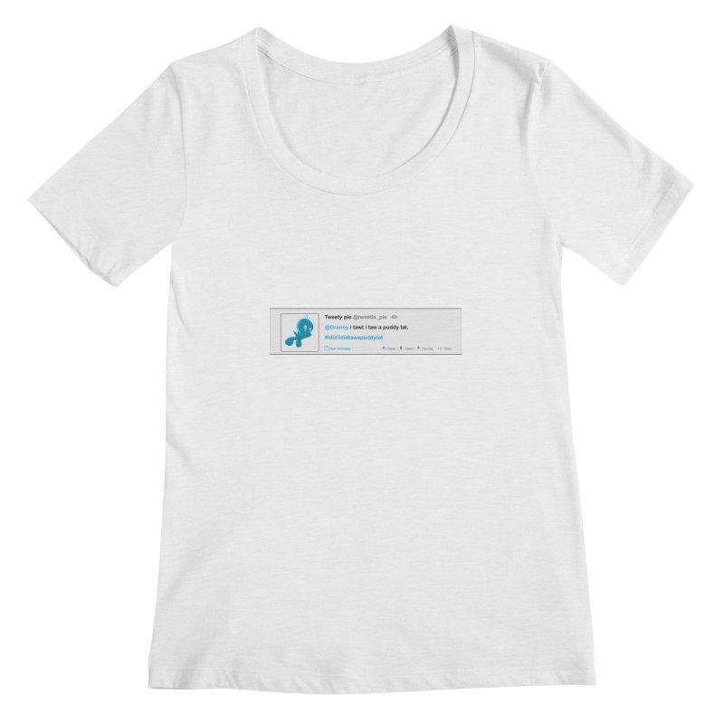 Twitter Pie Women's Regular Scoop Neck by VarieTeez Designs