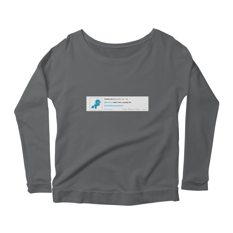 Twitter Pie Women's Scoop Neck Longsleeve T-Shirt by VarieTeez Designs