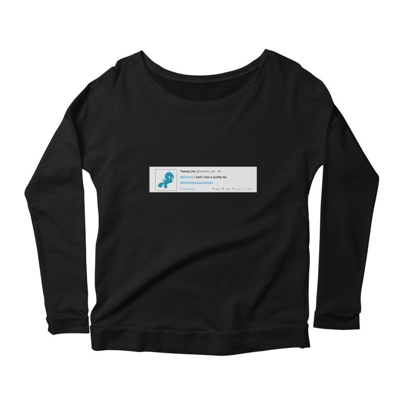 Twitter Pie Women's Longsleeve Scoopneck  by VarieTeez Designs