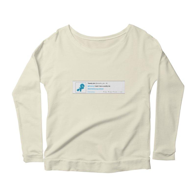 Twitter Pie Women's Scoop Neck Longsleeve T-Shirt by VarieTeez Designs
