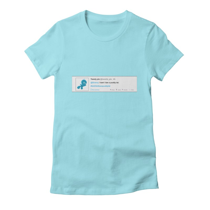 Twitter Pie Women's Fitted T-Shirt by VarieTeez Designs
