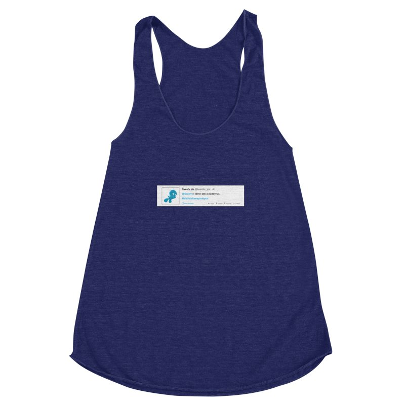 Twitter Pie Women's Racerback Triblend Tank by VarieTeez Designs