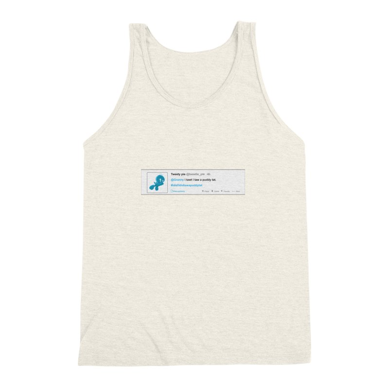 Twitter Pie Men's Triblend Tank by VarieTeez Designs