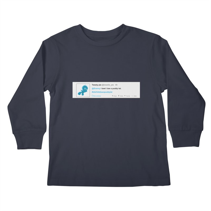 Twitter Pie Kids Longsleeve T-Shirt by VarieTeez Designs