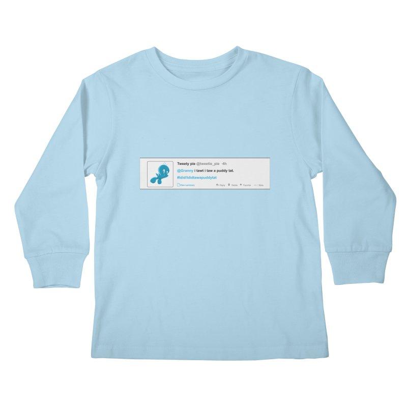 Twitter Pie Kids Longsleeve T-Shirt by VarieTeez Designs