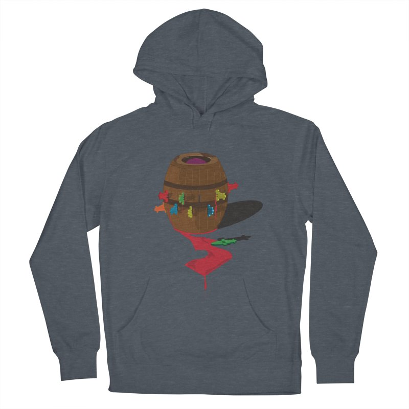 POP UP! Men's French Terry Pullover Hoody by VarieTeez Designs