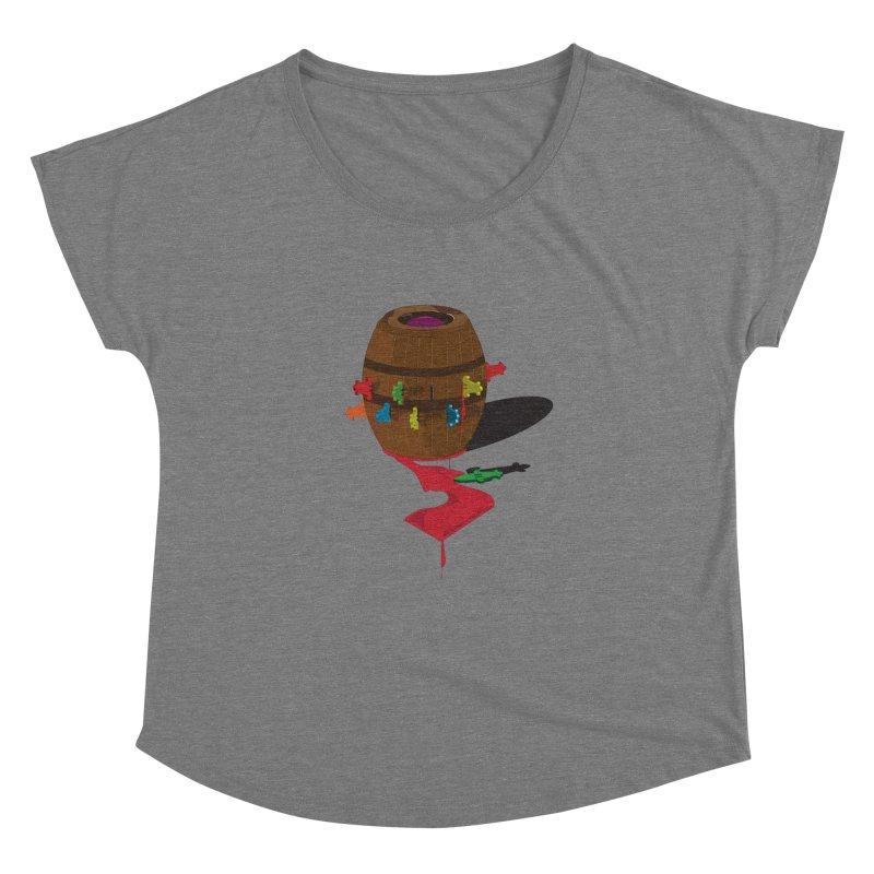 POP UP! Women's Dolman Scoop Neck by VarieTeez Designs