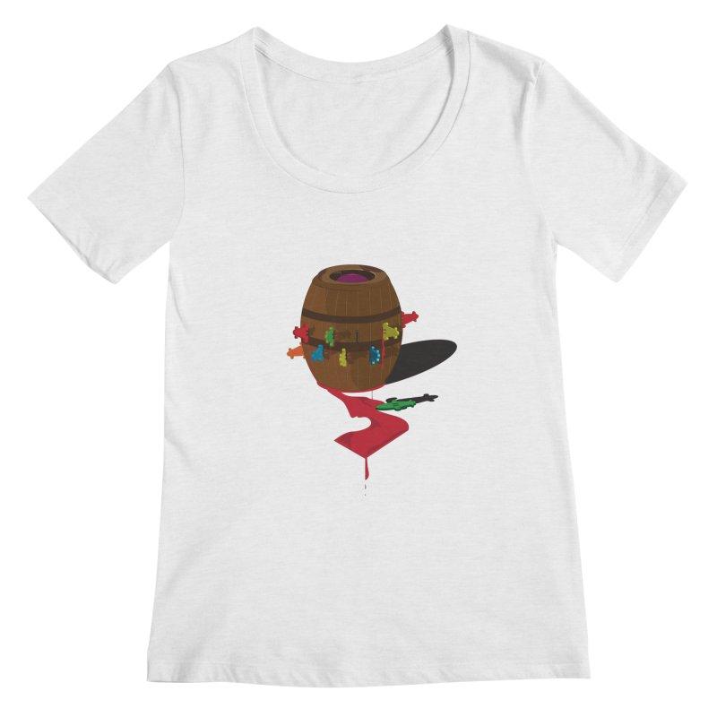 POP UP! Women's Regular Scoop Neck by VarieTeez Designs
