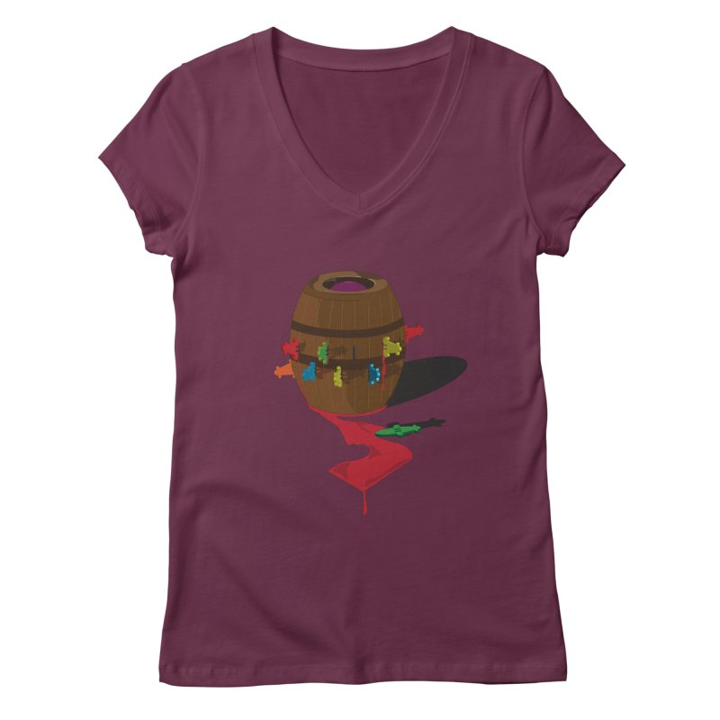 POP UP! Women's V-Neck by VarieTeez Designs