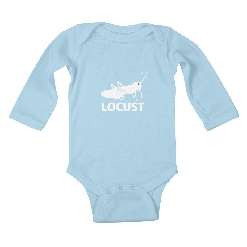 LOCUST Kids Baby Longsleeve Bodysuit by VarieTeez Designs