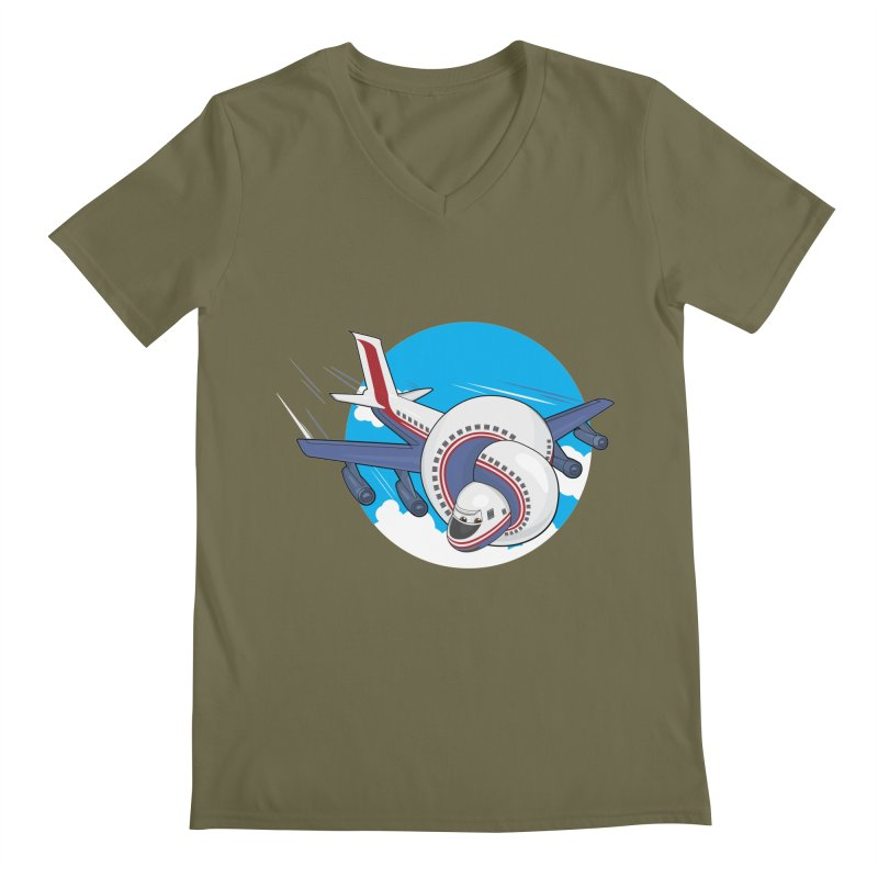 AIRPLANES! Men's V-Neck by VarieTeez's Artist Shop