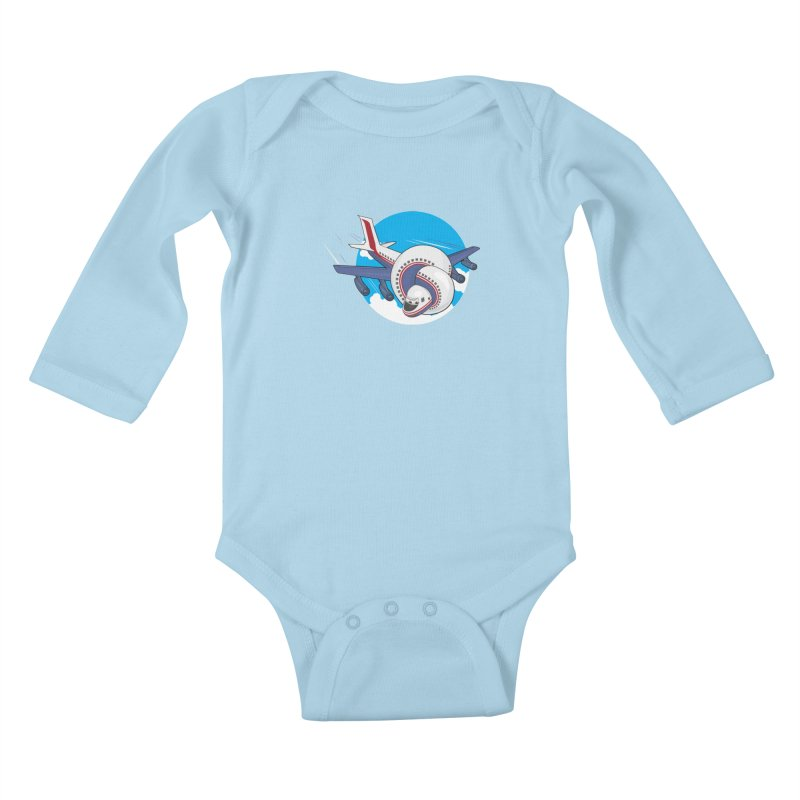 AIRPLANES! Kids Baby Longsleeve Bodysuit by VarieTeez Designs