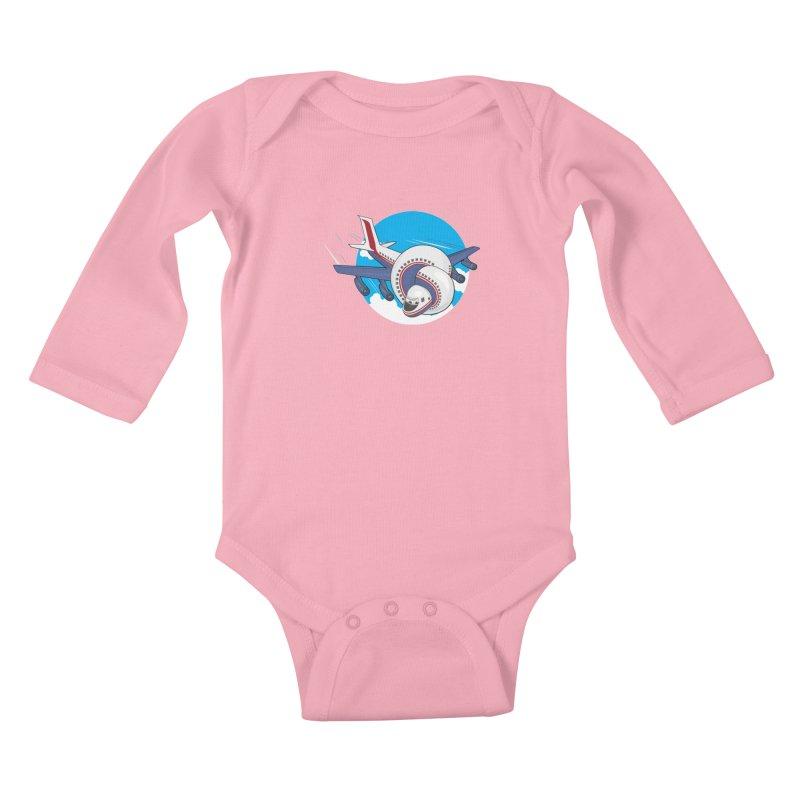 AIRPLANES! Kids Baby Longsleeve Bodysuit by VarieTeez Designs