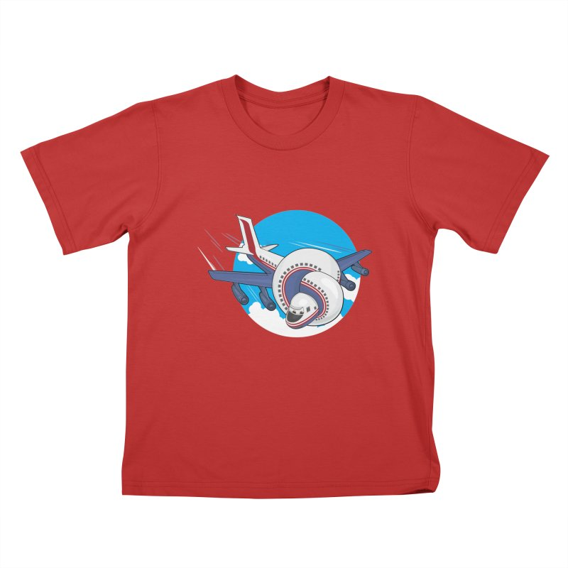 AIRPLANES! Kids T-Shirt by VarieTeez Designs