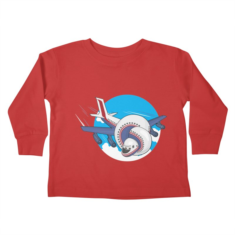 AIRPLANES! Kids Toddler Longsleeve T-Shirt by VarieTeez Designs