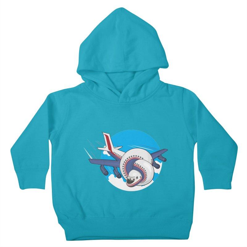 AIRPLANES! Kids Toddler Pullover Hoody by VarieTeez Designs