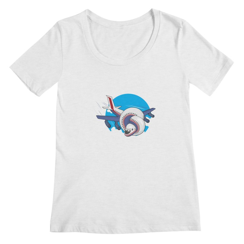 AIRPLANES! Women's Scoopneck by VarieTeez Designs