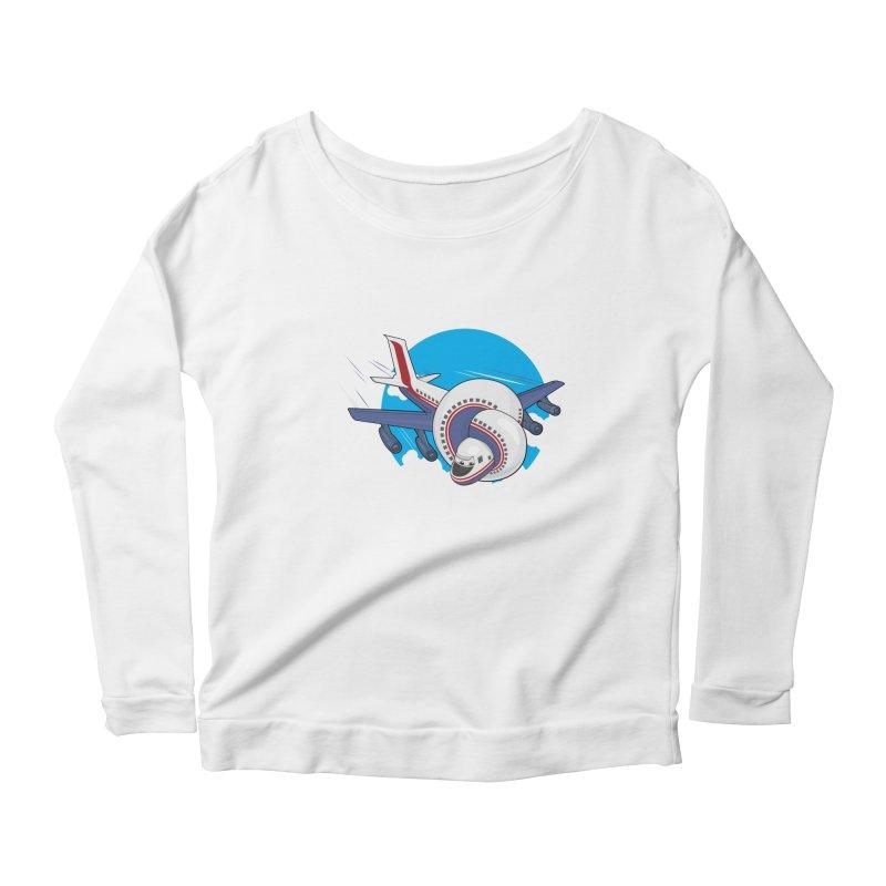 AIRPLANES! Women's Scoop Neck Longsleeve T-Shirt by VarieTeez Designs