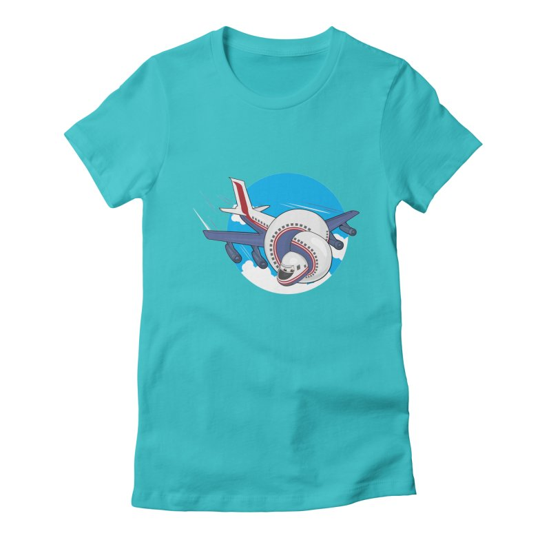 AIRPLANES! Women's Fitted T-Shirt by VarieTeez Designs
