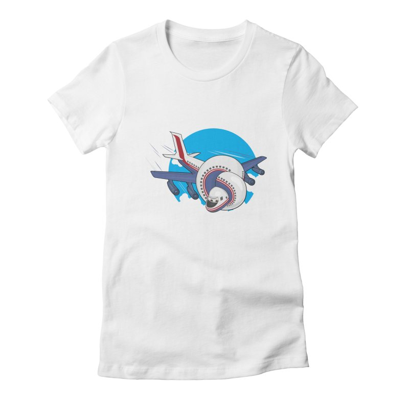 AIRPLANES! Women's Fitted T-Shirt by VarieTeez's Artist Shop