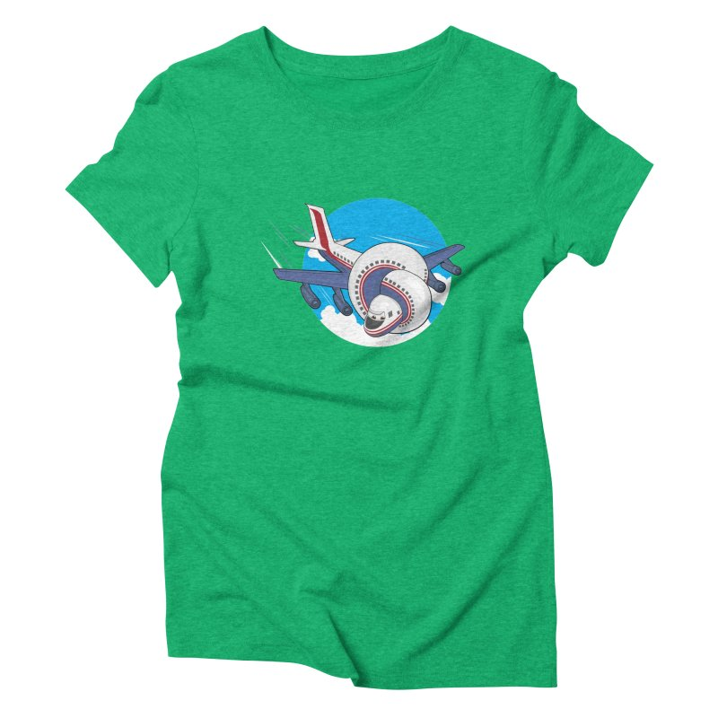 AIRPLANES! Women's Triblend T-Shirt by VarieTeez Designs