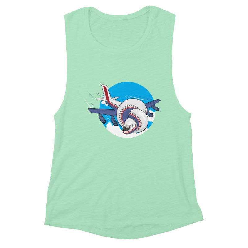 AIRPLANES! Women's Muscle Tank by VarieTeez Designs