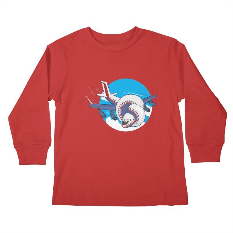 AIRPLANES! Kids Longsleeve T-Shirt by VarieTeez Designs