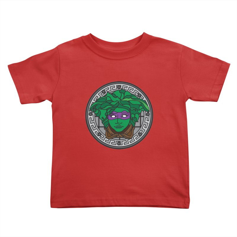 Donatello VERSACE Kids Toddler T-Shirt by VarieTeez Designs