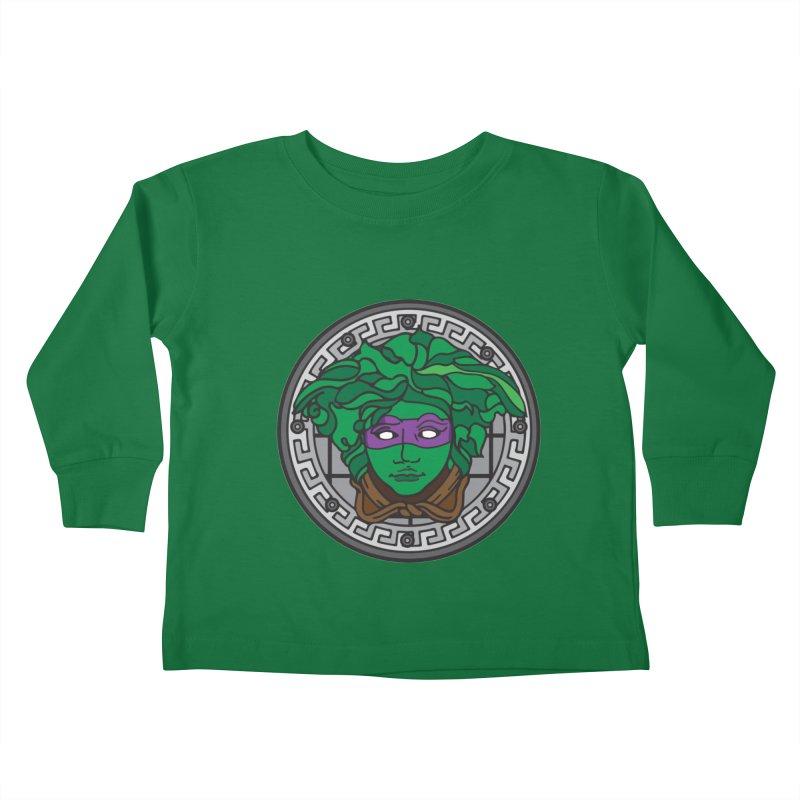 Donatello VERSACE Kids Toddler Longsleeve T-Shirt by VarieTeez Designs