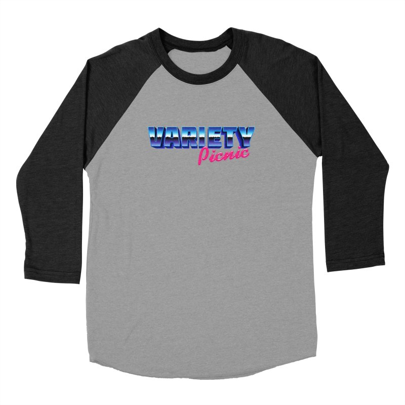 Variety Picnic Retro Logo Women's Baseball Triblend Longsleeve T-Shirt by Variety Picnic