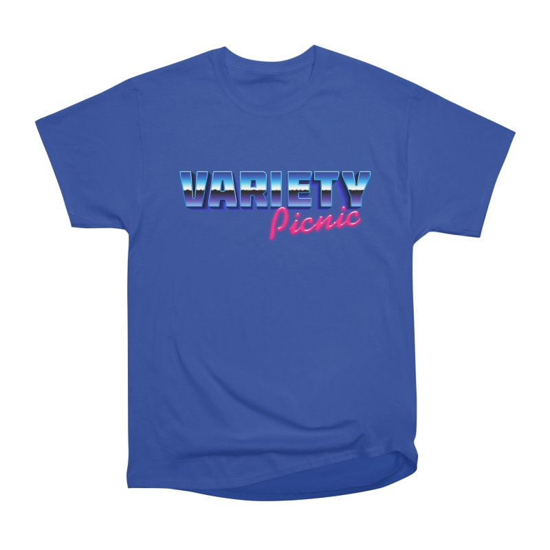Variety Picnic Retro Logo Men's Heavyweight T-Shirt by Variety Picnic