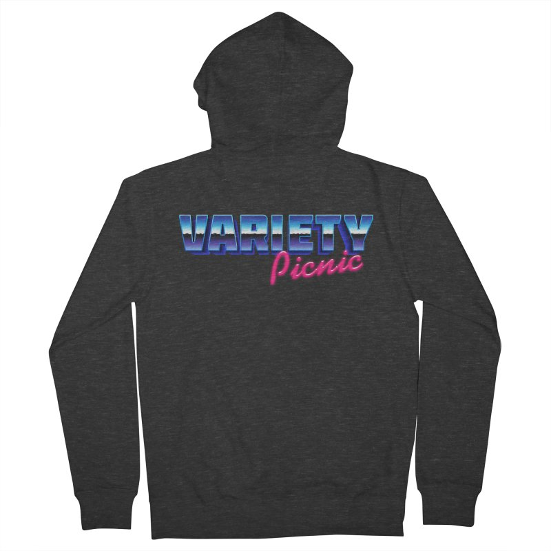 Variety Picnic Retro Logo Women's French Terry Zip-Up Hoody by Variety Picnic