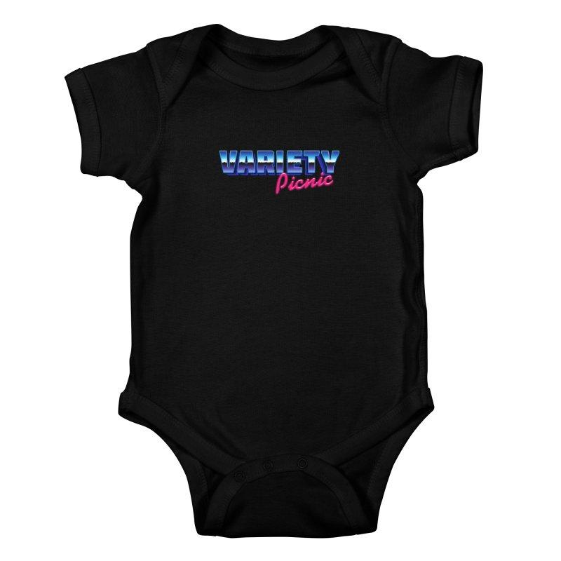 Variety Picnic Retro Logo Kids Baby Bodysuit by Variety Picnic