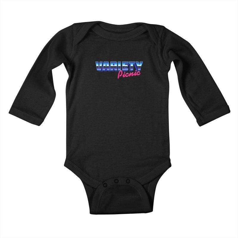 Variety Picnic Retro Logo Kids Baby Longsleeve Bodysuit by Variety Picnic