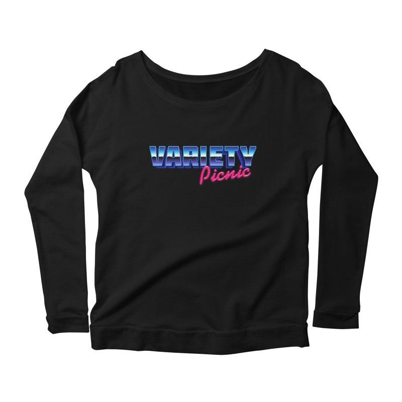 Variety Picnic Retro Logo Women's Scoop Neck Longsleeve T-Shirt by Variety Picnic