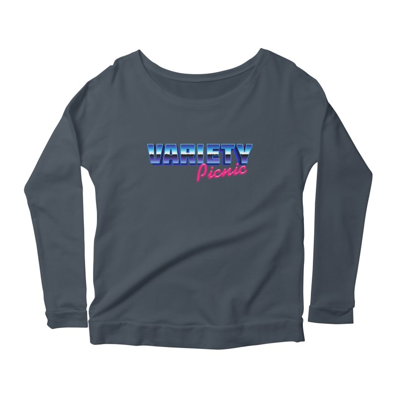 Variety Picnic Retro Logo Women's Scoop Neck Longsleeve T-Shirt by Variety Picnic