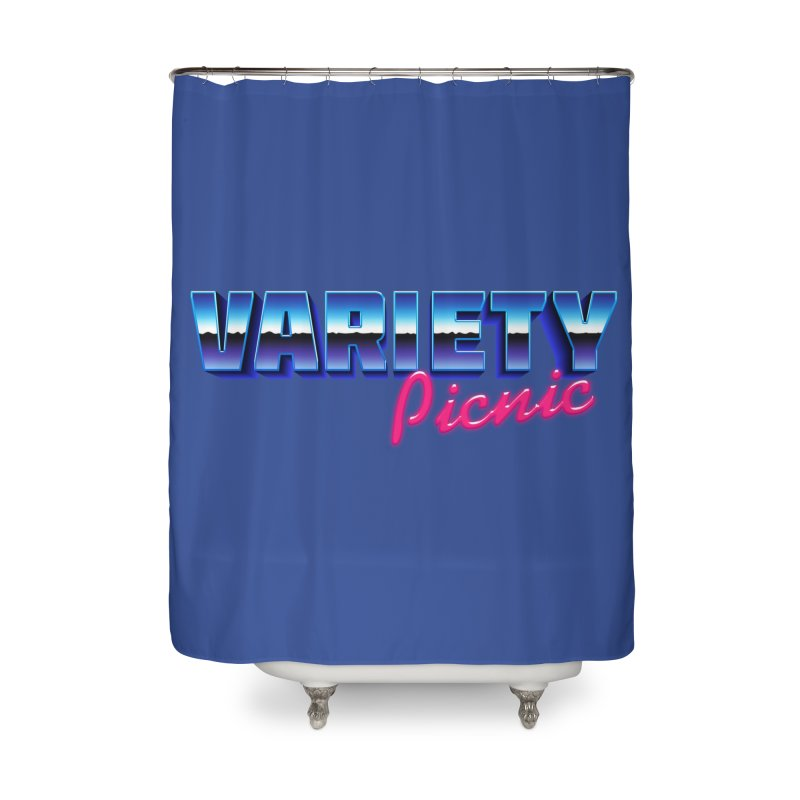 Variety Picnic Retro Logo Home Shower Curtain by Variety Picnic