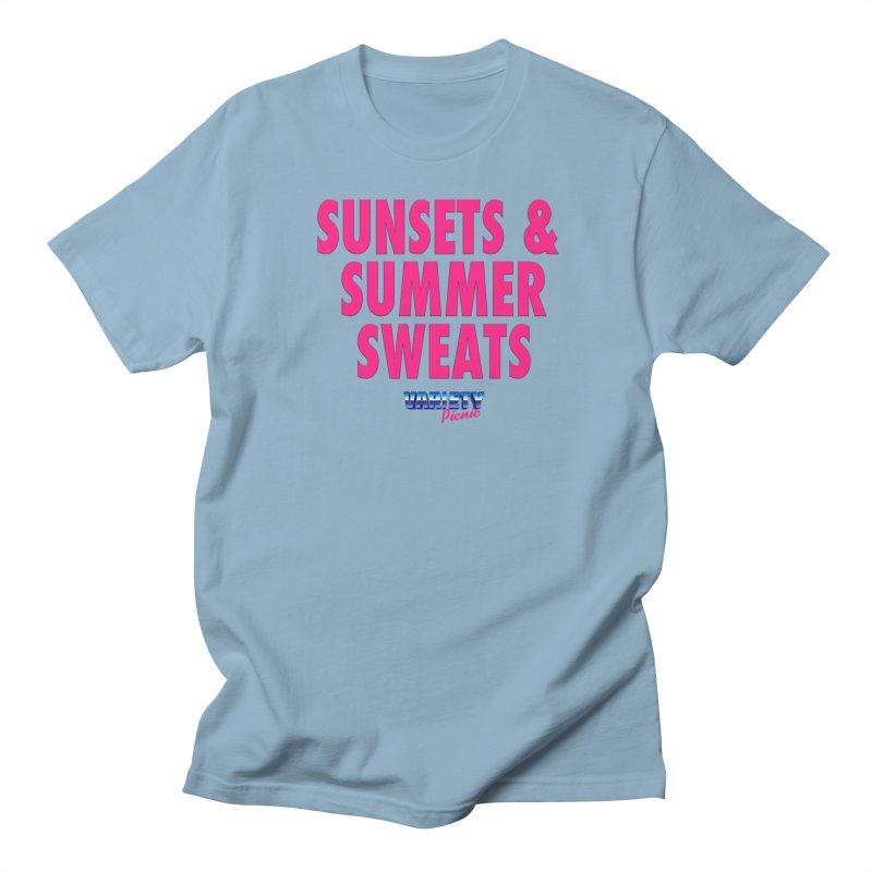 Sunsets & Summer Sweats Men's Regular T-Shirt by Variety Picnic