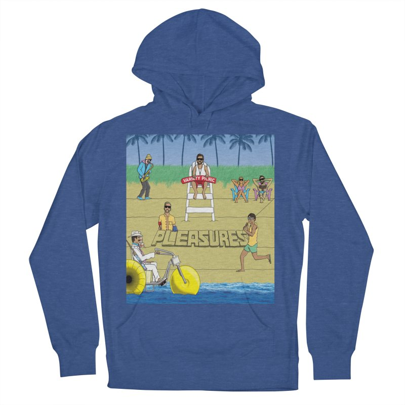 Pleasures Album Cover Men's French Terry Pullover Hoody by Variety Picnic