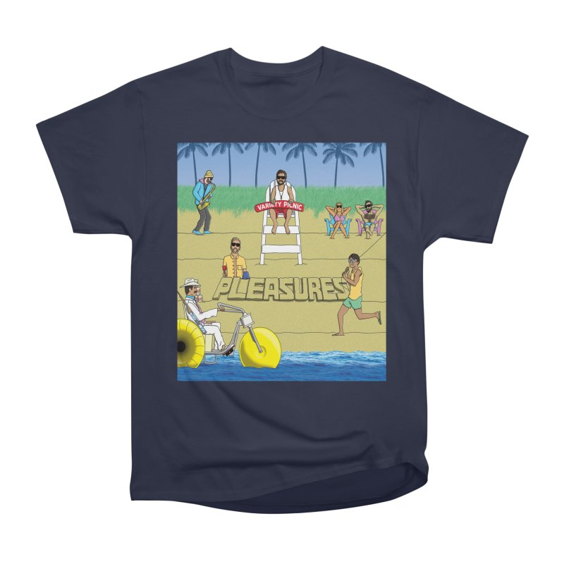 Pleasures Album Cover Women's Heavyweight Unisex T-Shirt by Variety Picnic