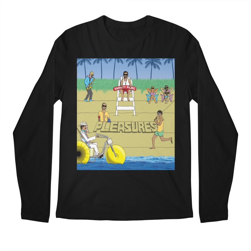 Pleasures Album Cover Men's Regular Longsleeve T-Shirt by Variety Picnic