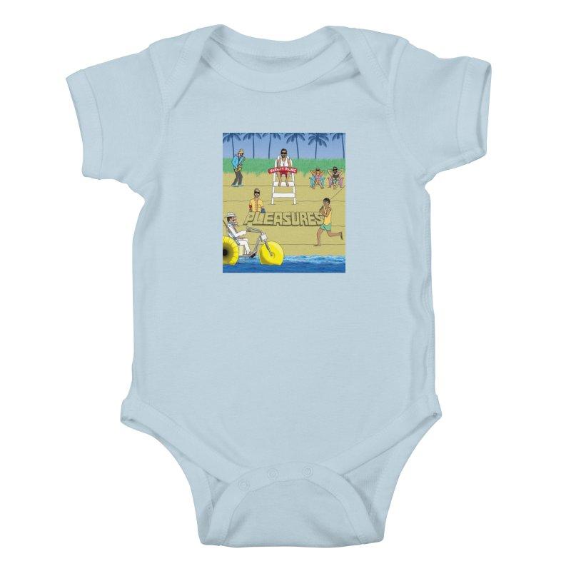Pleasures Album Cover Kids Baby Bodysuit by Variety Picnic
