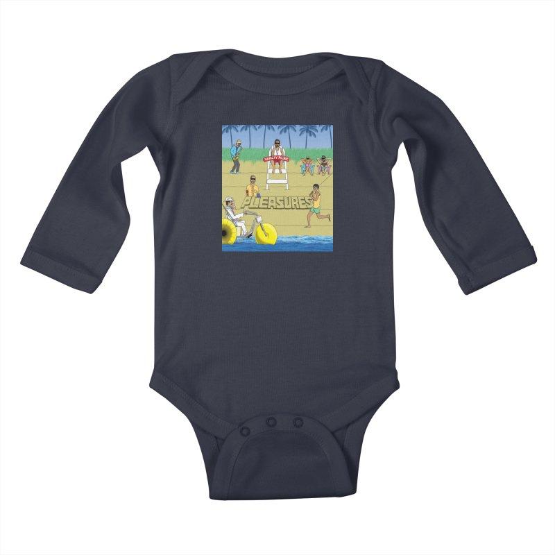 Pleasures Album Cover Kids Baby Longsleeve Bodysuit by Variety Picnic