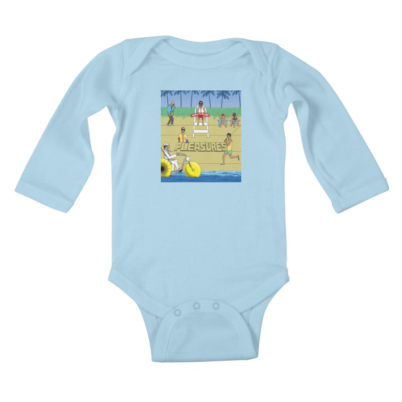 Pleasures Album Cover Kids Baby Longsleeve Bodysuit by Variety Picnic
