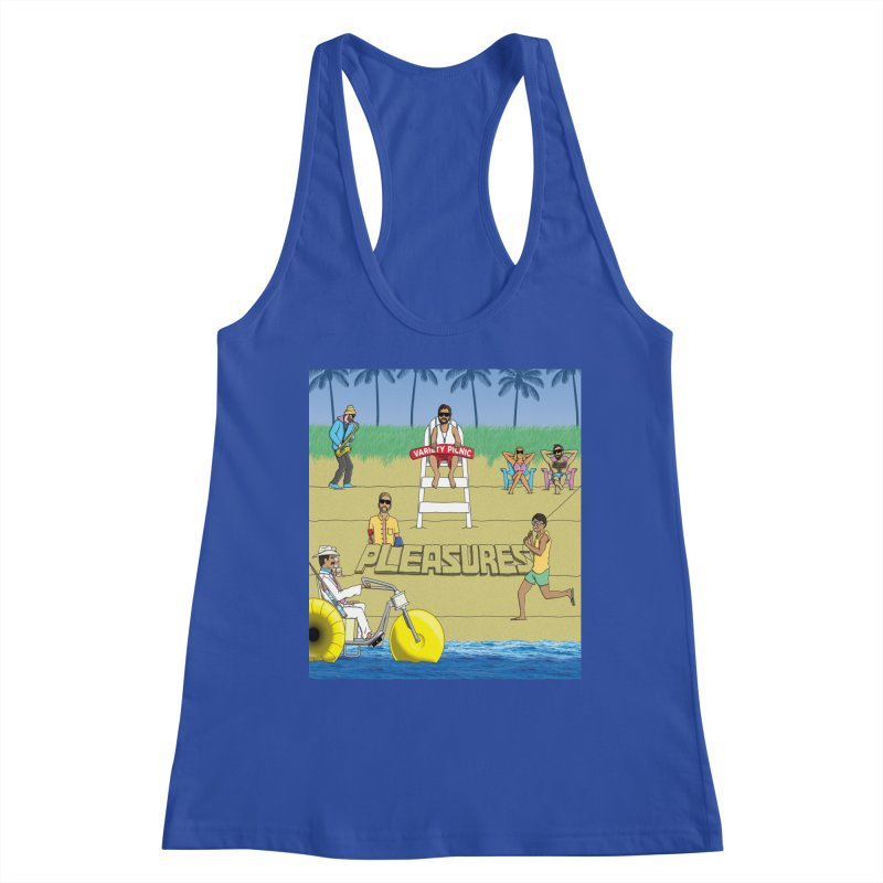 Pleasures Album Cover Women's Racerback Tank by Variety Picnic