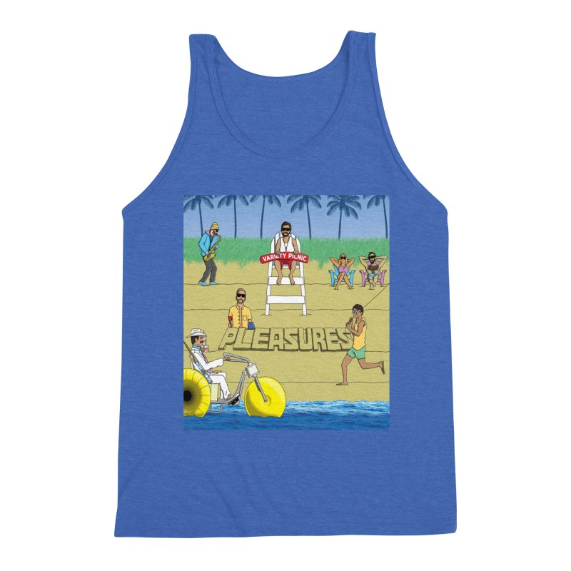 Pleasures Album Cover Men's Triblend Tank by Variety Picnic