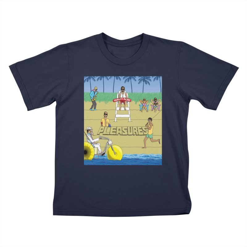 Pleasures Album Cover Kids T-Shirt by Variety Picnic